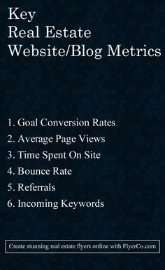 Monitor and improve these 5 metrics to get more leads by https://flyerco.com - Create stunning real estate flyers online. #realtor #realestate