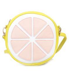 Yellow & Pink Lemon Zipper Purse #uniquevintage