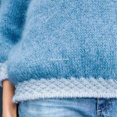 lana per fare a maglia il maglione azzurro