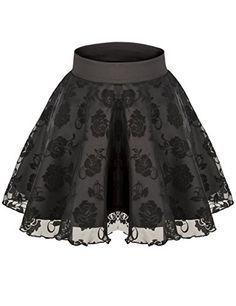 Sweetylove Women's Stretch High Waist Pleated Lace Tulle Tutu Casual Skirt * CONTINUE @ http://www.eveningdressesoutlet.com/store/sweetylove-womens-stretch-high-waist-pleated-lace-tulle-tutu-casual-skirt/?b=9803