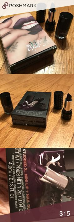 """KVD combo """"POE"""" lipstick & formula X nail polish Brand new with tag, never used and only opened for pic. A popular color that sold out in one day when I had these in the past. Long lasting lipstick that joined forces with Formula x nail polish. These are running out and  will not be available for  much longer.  Bundle and  get an even greater discount on a very high quality make up line that is highly sought after even with the higher prices. Bold colors to really make a statement.  BNWT…"""