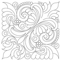 Shop | Category: Blocks | Product: Victorian Feather 15 inch Block