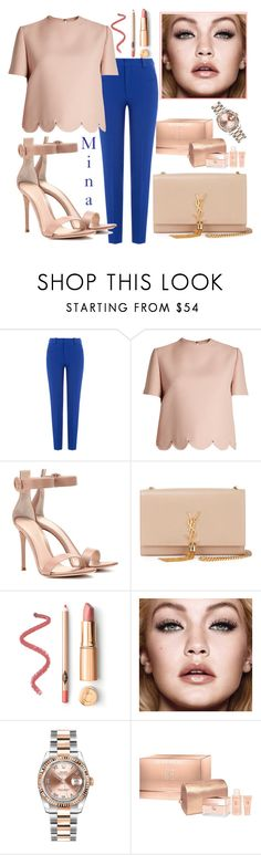 """Untitled #49"" by mina-al-wiswassi ❤ liked on Polyvore featuring Roland Mouret, Valentino, Gianvito Rossi, Yves Saint Laurent, Rolex and Givenchy"
