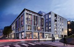 In all there are 44 residences behind the contemporary seven-storey glass and stone façade...
