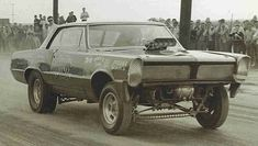 """Don Gay built his first funny car out of a '65 GTO. Brother Roy later drove it too. This car was called """"Infinity"""""""