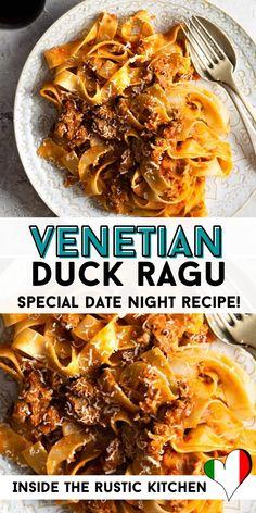 Italian Pasta Recipes Authentic, Italian Recipes, Yummy Pasta Recipes, Dinner Recipes, Curry Recipes, Vegetarian Recipes, Duck Curry, Curry Pasta