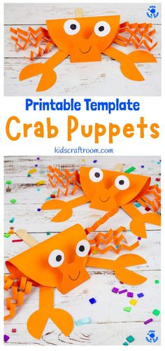 This Crab Puppet Craft is so fun for kids. Download the printable crab craft template and get making yours today. Such a fun ocean craft for kids this Summer! #kidscraftroom #crabs #crabcrafts #summercrafts #kidscrafts #kidsactivities #oceancrafts #puppets #puppetcrafts #beachcrafts Summer Crafts For Kids, Summer Activities For Kids, Crafts For Kids To Make, Craft Kids, Indoor Activities, Toddler Activities, Preschool Crafts, Fun Crafts, Crab Crafts