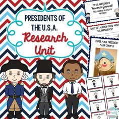 This unit is perfect for students who are learning how to use informational text and studying The United States and the presidents. Students will first learn how to use the text features in informational text including the table of contents and index. Then, students will be assigned a president and a partner to work with. Students will have a U.S. Presidents Research Journal that they will use as a guide as they research about the United States Presidents and their assigned president.
