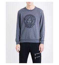 VERSACE Medusa cotton-blend sweatshirt. #versace #cloth #