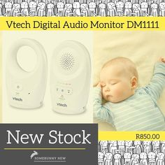 The VTech DM1111 Safe & Sound Audio Baby Monitor is an enhanced range audio monitor suitable for checking up on your baby from another room or the yard with a range up to 450m. With DECT interference-free communication you won't miss a thing: digital transmission ensures uninterrupted recording and a belt clip on the parent unit means you won't need to juggle the handset. A five-level sound indicator is ideal for tuning in to more subtle noises for your peace of mind. #vtech #audiomonitors… Digital Audio, Baby Monitor, Peace Of Mind, Communication, Parenting, Yard, Range, The Unit, Belt
