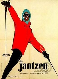 Jantzen poster by Rousseau - Rene Gruau