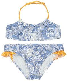 Stella Cove | Paisley In Retro Blue Bikini For Girls