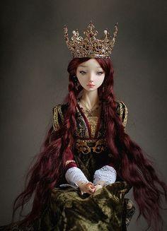 RED - Enchanted Dolls by Marina Bychkova Pretty Dolls, Beautiful Dolls, Ooak Dolls, Barbie Dolls, Enchanted Doll, Realistic Dolls, Paperclay, Doll Maker, Fairy Dolls