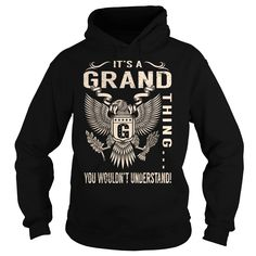 Its a GRAND Thing You Wouldnt Understand - Last Name, Surname T-Shirt (Eagle)