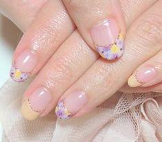 花柄ペイントジェルネイル