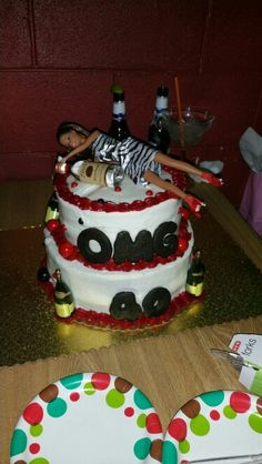 OMG 40th Birthday party. Drunk Barbie on Cake