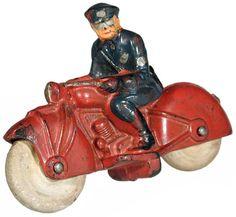 c.1945 Auburn, Motorcycle Cop, Rubber (ver.1)
