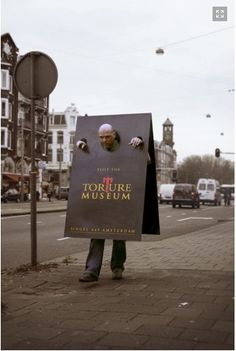 #outdoor #advertising I'd make him drag a ball and chain as well.
