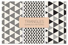Triangles. Seamless Patterns Set 9 by Curly_Pat on Creative Market