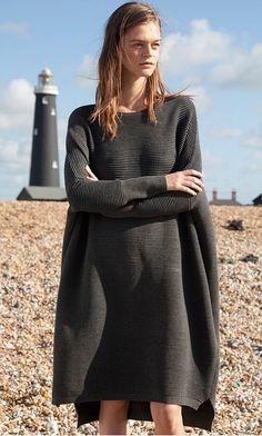Gale sweater dress - Graphite - Plümo Ltd