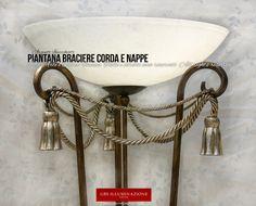 Piantana Braciere Corda e Nappe | GBS Illuminazione – Ferro Battuto – Wrought Iron – Made in Florence
