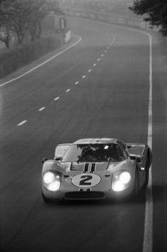 1967 Ford GT 40 MK IV, Mulsanne Straight, LeMans,