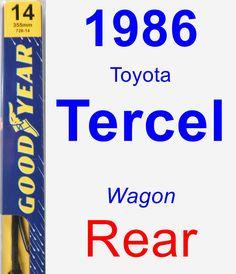 Rear Wiper Blade for 1986 Toyota Tercel - Premium