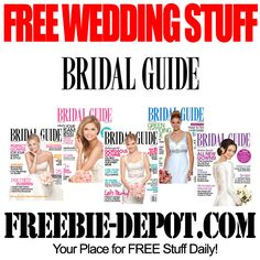 Free wedding stuff finallykarres pinterest free wedding free wedding stuff bridal guide junglespirit Gallery