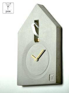 Wohnaccessoires - KuckKuck's Uhr aus Beton - ein Designerstück von ProductOfEnvironment bei DaWanda