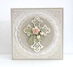 Card: Baptism Confirmation Cards, Baptism Cards, Pretty Cards, Cute Cards, First Communion Cards, Christian Cards, Spellbinders Cards, Scrapbook Cards, Scrapbooking