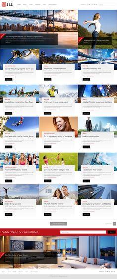 JLL real estate news and blog site Real Estate News, Blog Sites, Website, Design