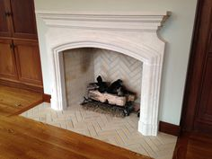 Fireplace Mantels limestone AKGOODS http://akgoods.com/shop/fireplaces-mantels/