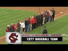 The Gamecocks' 1977 baseball team was recognized on the field and received rings for their appearance in the CWS before the game on February 23. The 1977 team went all the way to the national championship game at the College World Series under first-year head coach June Raines.