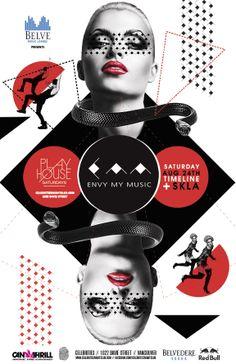 Club & Festival Posters by Nacional Branding, via Behance