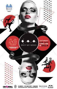 Club & Festival Posters by Nacional Branding, via Behance