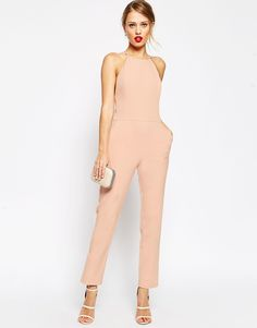 Image 4 of ASOS Premium Halter Neck Jumpsuit Place to purchase at link