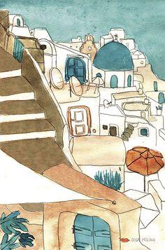 Greece Scketchbook - Olga Molina