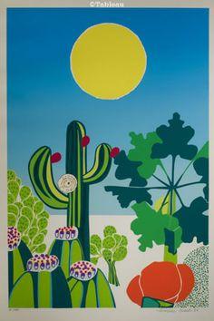 Aldemir Martins. Caatinga (1980). Serigrafia. 60x40 cm