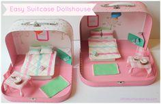 Easy suitcase dollshouse DIY
