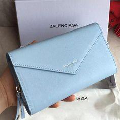バレンシアガ長財布 ペーパー マニー ジップアラウンド BLUE CARAIBES ブルー レディース 371661-DBCAN-4611 -バレンシアガ財布コピー