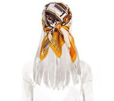 2014 F/W | Minuit au Faubourg | Vintage silk twill scarf (70 cm x 70 cm) | Ref. H982820S 12