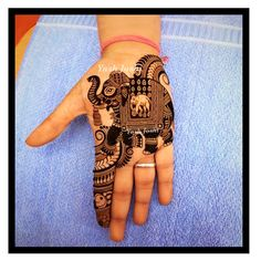 69 ideas tattoo elephant hand henna designs for 2019 Short Mehndi Design, Indian Mehndi Designs, Mehndi Designs 2018, Mehndi Designs For Girls, Modern Mehndi Designs, Mehndi Design Pictures, Wedding Mehndi Designs, Beautiful Mehndi Design, Mehndi Images