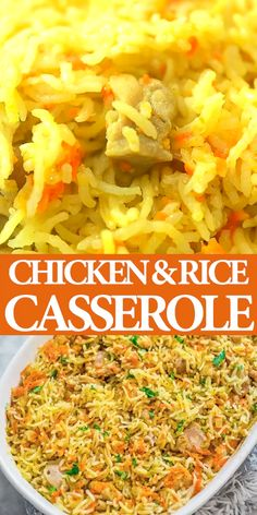 If you are looking for a simple, yet delicious and filling chicken dinner, this Chicken Rice Casserole is just what you need. It is made with simple ingredients and no fuss. While the casserole is in Gluten Free Recipes For Dinner, Easy Dinner Recipes, Easy Meals, Chicken Rice Casserole, Casserole Recipes, Taco Casserole, Mexican Food Recipes, Vegetarian Recipes, Cooking Recipes