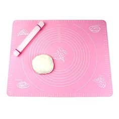 SoleSa 5040cm Kitchen Craft NonStick Pastry Mat Large Kneading Dough Mat Silicone Baking Mat with Measures BluePink Pink ** More info could be found at the image url.