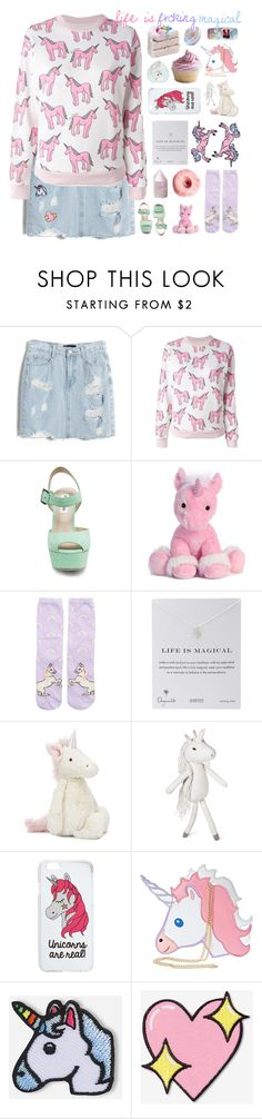"""""""Life is Fvcking Magical // Day 56/100"""" by rockgirlfriend15 ❤ liked on Polyvore featuring Chicnova Fashion, Au Jour Le Jour, Steve Madden, New Look, Dogeared, Jellycat, Pillowfort, Miss Selfridge, Nila Anthony and Hipstapatch"""