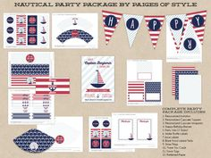 Nautical Birthday Party Package  Printable by paigesofstyle, $39.50