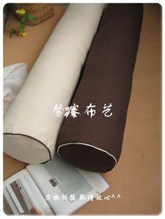 全棉米色棕色大号圆柱枕|长抱枕|靠枕|腰枕 珍珠棉内芯非PP棉-淘宝网