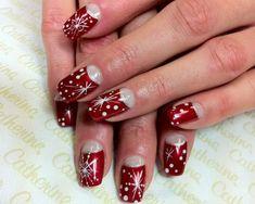 snowflakes christmas nail