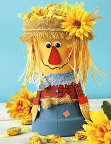 Scarecrow Candy Pot