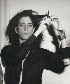 Patti Smith photographed by Robert Mapplethorpe, 1978.